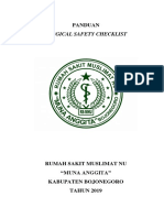 Panduan Surgical Safety Checklist New