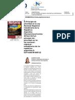 El Principio de Prioridad en La Ley Nacional Registral Inmobiliaria de La Republica Argentina