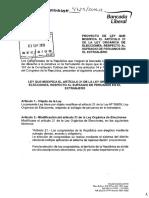 Proyecto de Ley sobre Sufragio de Peruanos en el extranjero
