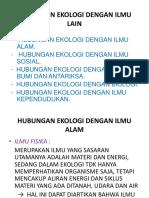 Hub.ekologi dgn ilmu lainnya.ppt