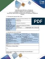 Guía de Actividades y Rúbrica de Evaluación - Paso 1 - Recolectar Información Introductoria Al Tratamiento Digital de Señales