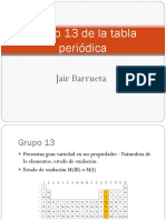 Grupo 13 de La Tabla Periódica