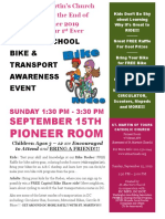 St. Martin's Catholic Church Back-To-school Bike and Transport Awareness Expo 2019 09 15