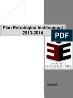 Plan Estrategico Institucional 2013-2014 Foda Oaxacaç