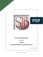 Silabo Atención Integral e Integrada en Salud 2019-II - Vega Ortiz Maria Del Carmen