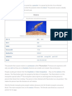 Malaria - Simple English Wikipedia, The Free Encyclopedia(1)