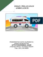 Coverpedoman Pelayanan Ambulance