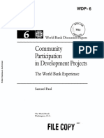 Community Participation in Development Projects