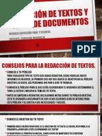Redacción de Textos y Tipos de Documentos