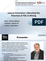 12. Radical Innovation Liberating the Potential of TOC in Mining 2019-05-15 Arrie v Niekerk