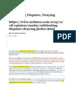 4 Arbitrating Disputes Denying Justice