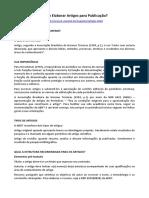 ARTIGO - PESQUISA - Como Elaborar Artigos para Publicação (Prof. Eugênio Carlos Stieler, UNEMAT).docx