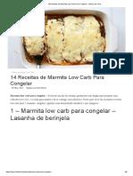 14 Receitas de Marmita Low Carb Para Congelar - Dieta Low Carb