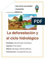 Deforestación y le ciclo hidrológico