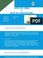 Lluvia de Ideas y Hoja de Verificación