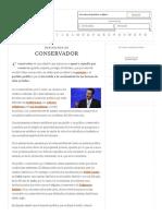 Definición de Conservador - Qué Es, Significado y Concepto