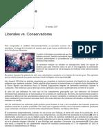 Liberales vs. Conservadores – Grado Cero Prensa