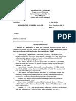sample of counter affidavit