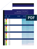 Excel Gantt Chart for Marketing Project