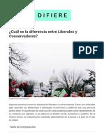 ¿Cuál Es La Diferencia Entre Liberales y Conservadores
