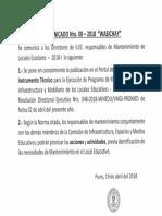 Comunicado Nro.08 2018 Wasichay.
