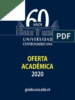 Oferta Academica UCA Grado 2020