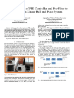 Ball and Plate System with PID control and Pre-Filter