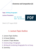 Lecture three notes