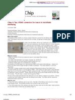 PDMS Macro-micro Connectors