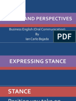 Business Perspectives and Stances by Ian Carlo Bajada