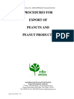 Procedure for Exports of Peanuts and Peanut Products2018
