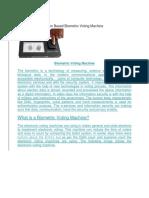 Biometric Voting Machine-seminar