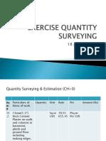 Quantity Surveying & Estimation