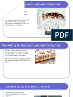Marketing to Gay and Lesbian Consumer