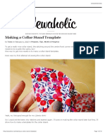 Making a Collar Stand Template | Sewaholic