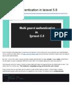 Multi Guard Authentication in Laravel 5.8