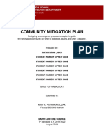 Community Mitigation Template 2019