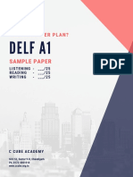 DELF A1 Sample Paper 2 With Answers Key