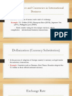 Exchange Rates and Currencies in International Business 2