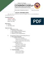 Exam 1 Information
