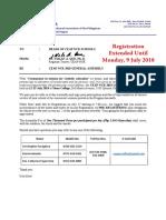 CEAP First Meeting Notice