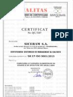SICERAM Certificarea Sistemului de Management a Calitatii