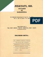 Akta Pendirian PT. ADM