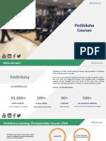 FinShiksha Course Brochure - 2019