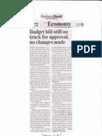 BusinessWorld, Sept, 4, 2019, Budget bill still on track for approval, no changes made.pdf