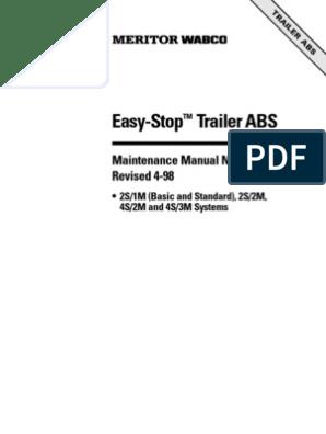 Meritor WABCO's Easy-Stop - Trailer ABS mm33 | Anti Lock Braking System |  AsbestosScribd