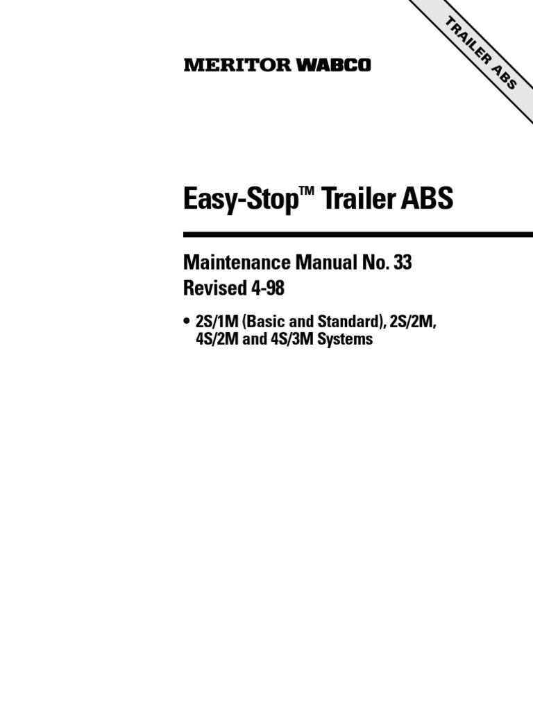 meritor wabco's easy-stop - trailer abs mm33 | anti lock braking system |  asbestos