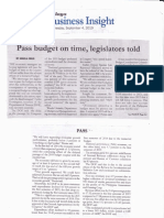 Malaya, Sept 4, 2019, Pass budget on time, legislators told.pdf