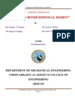 Wireless bomb disposal robot report