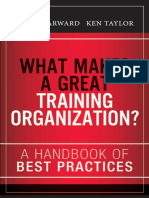 What Makes a Great Training Organization a Handbook of Best Prac